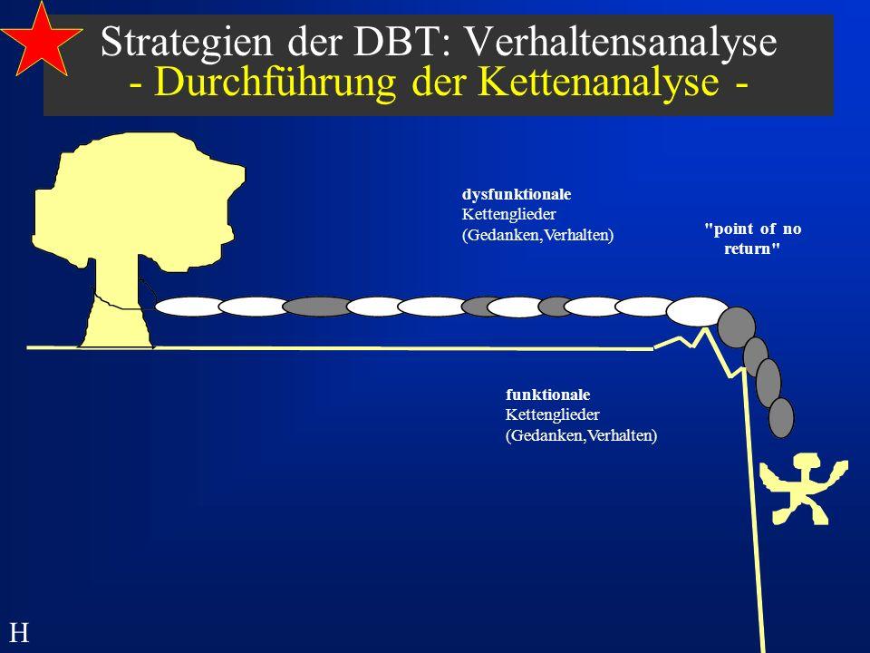 Strategien der DBT: Verhaltensanalyse - Durchführung der Kettenanalyse -