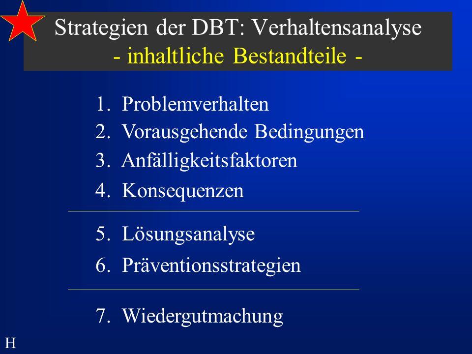 Strategien der DBT: Verhaltensanalyse - inhaltliche Bestandteile -