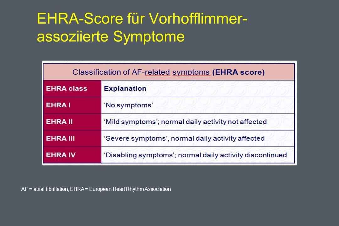 EHRA-Score für Vorhofflimmer-assoziierte Symptome