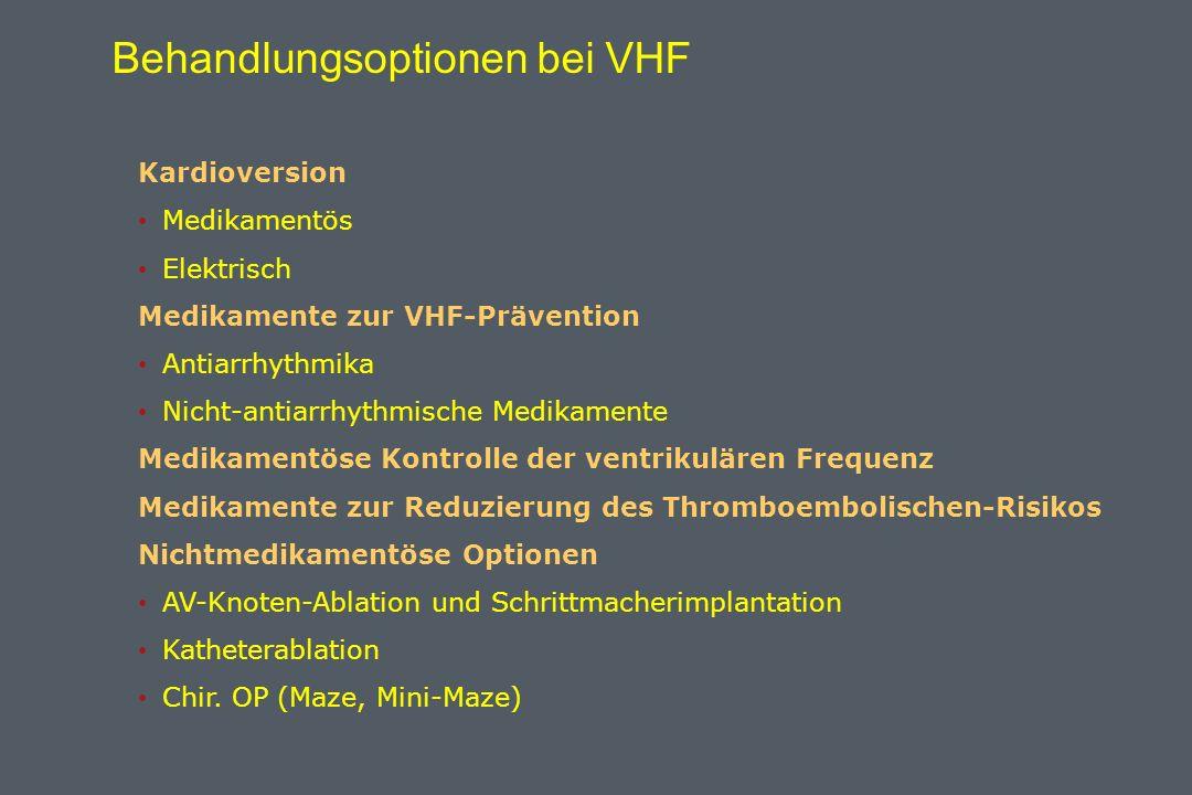 Behandlungsoptionen bei VHF