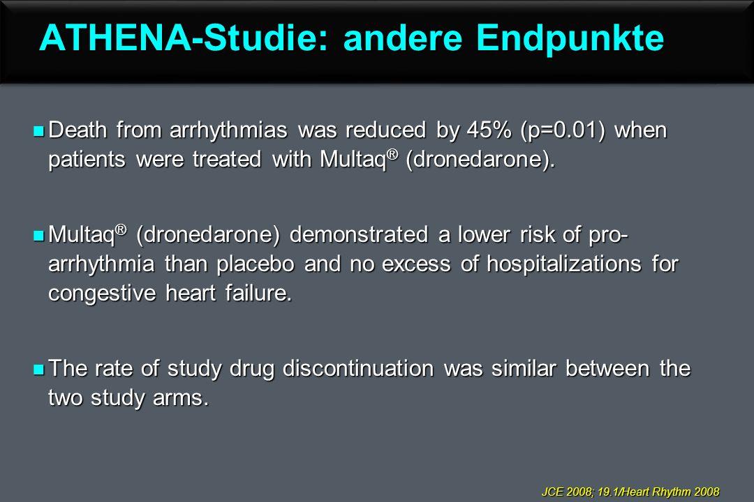 ATHENA-Studie: andere Endpunkte