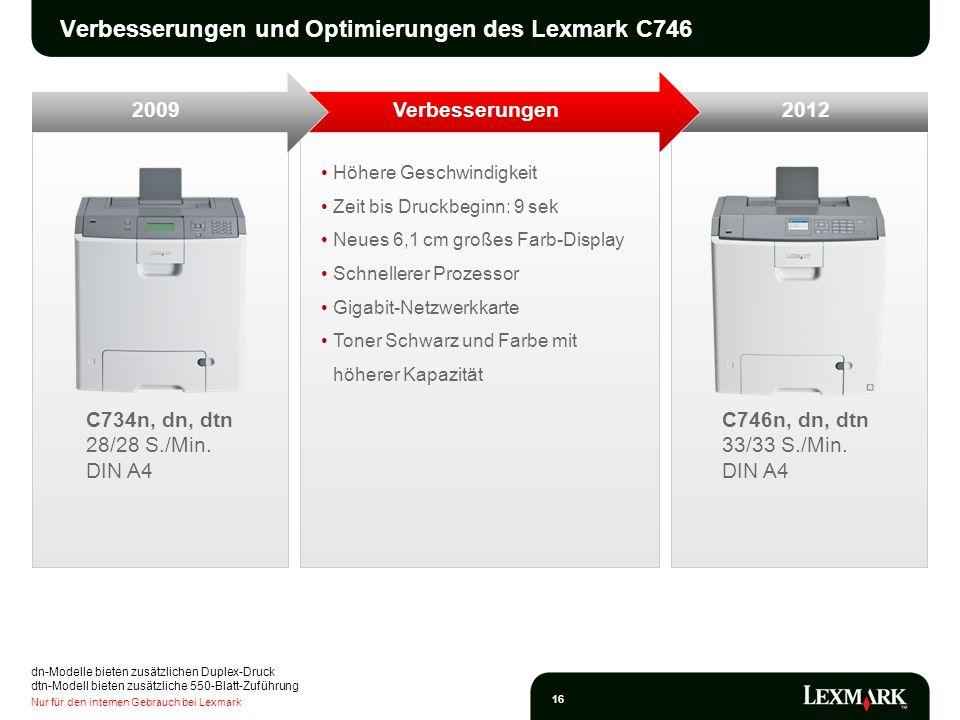 Verbesserungen und Optimierungen des Lexmark C746
