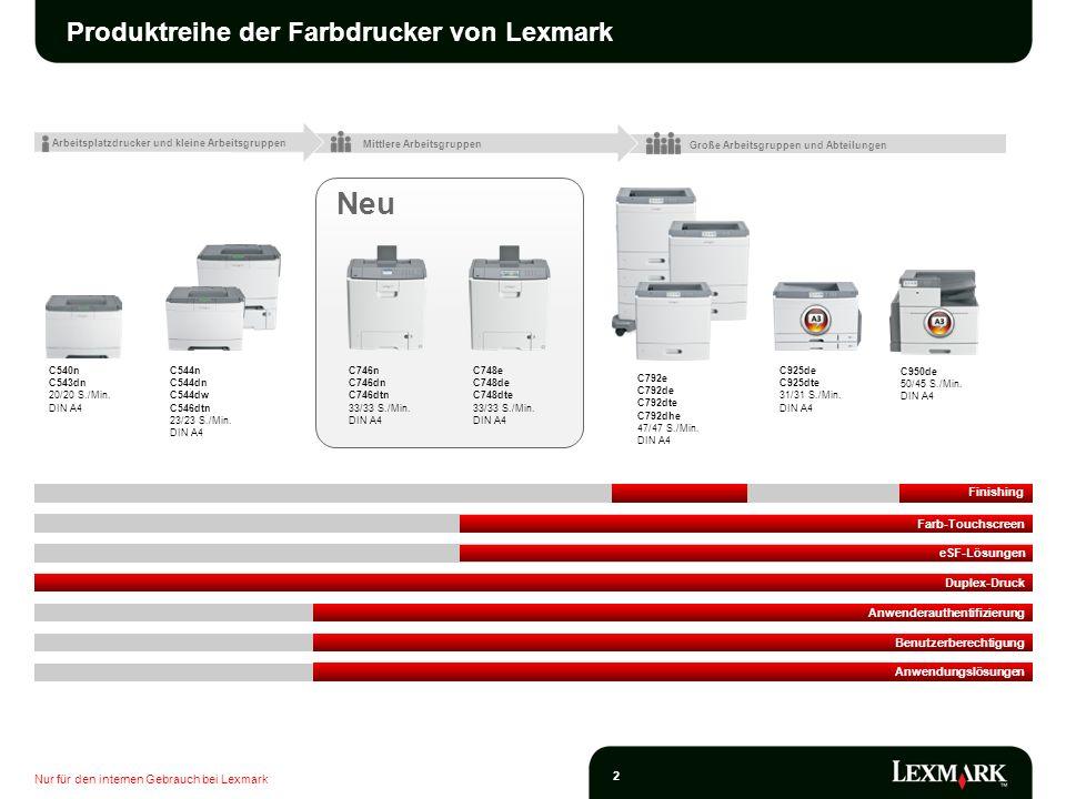 Produktreihe der Farbdrucker von Lexmark
