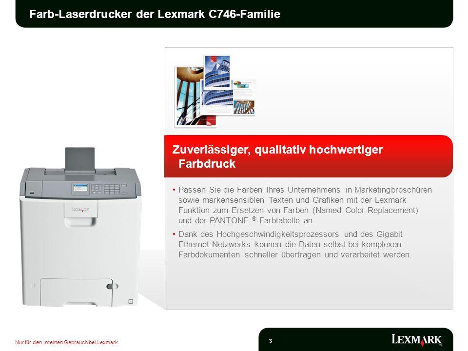 Farb-Laserdrucker der Lexmark C746-Familie
