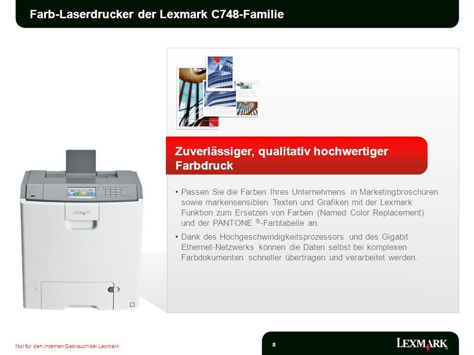 Farb-Laserdrucker der Lexmark C748-Familie
