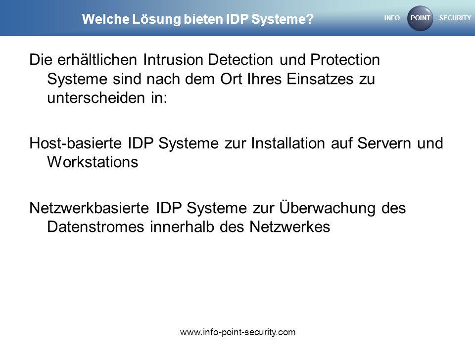 Welche Lösung bieten IDP Systeme