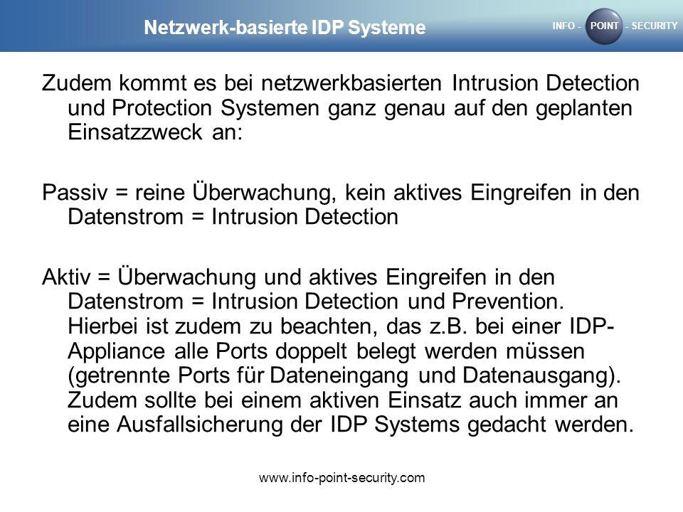 Netzwerk-basierte IDP Systeme