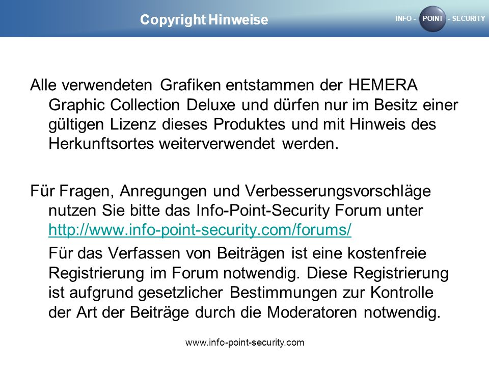 Copyright Hinweise