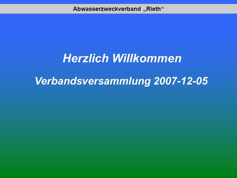 """Abwasserzweckverband """"Rieth Verbandsversammlung 2007-12-05"""