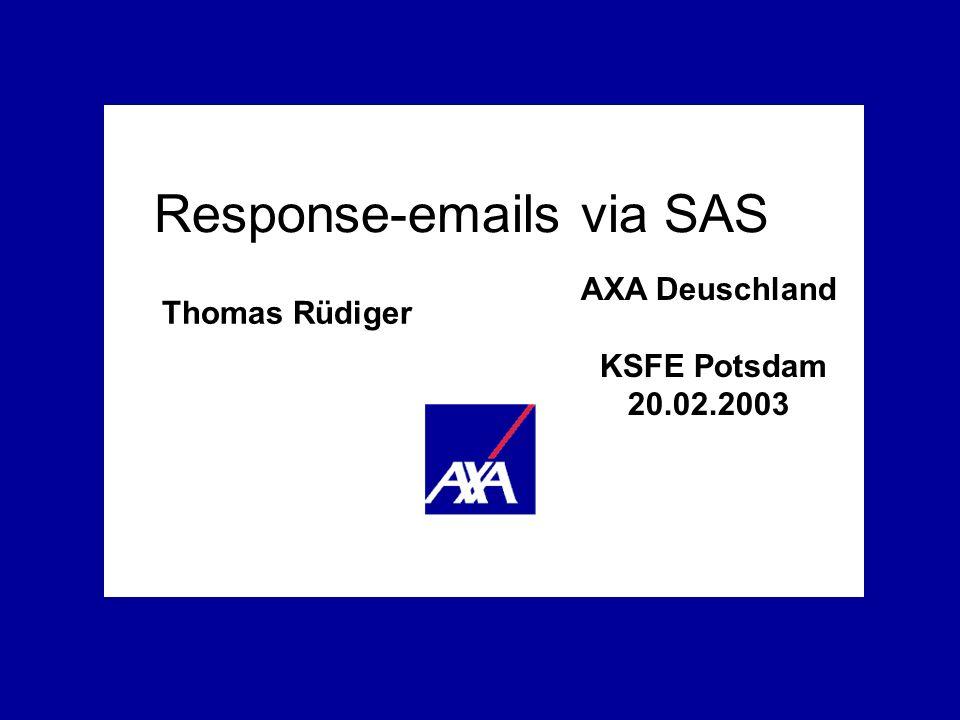 Response-emails via SAS