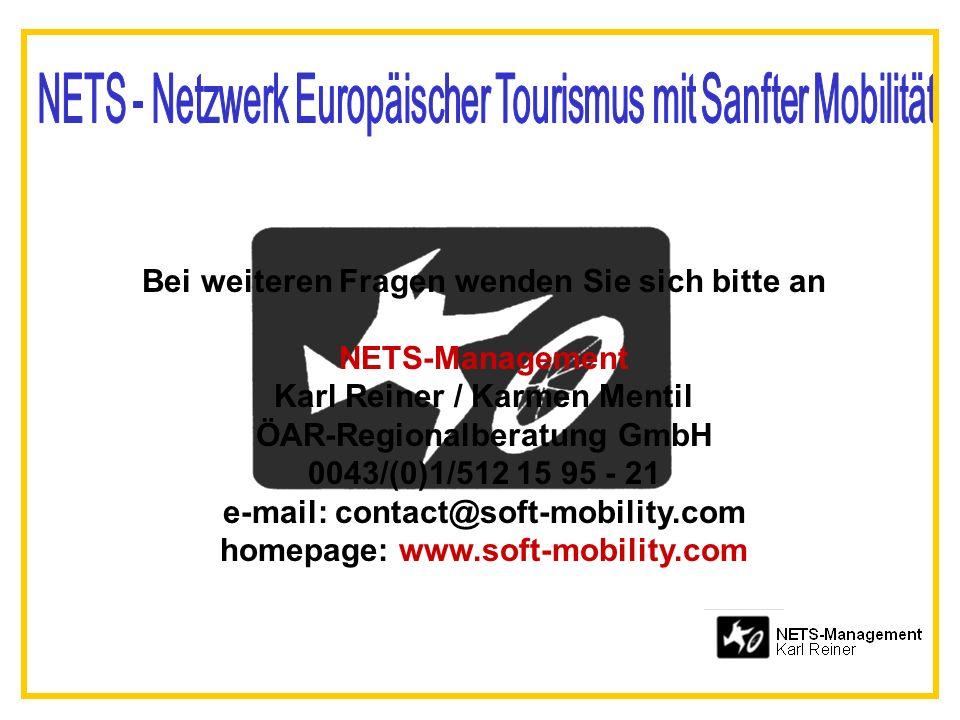 Bei weiteren Fragen wenden Sie sich bitte an NETS-Management
