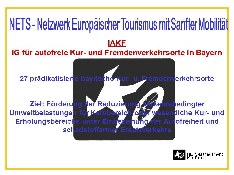 IAKF IG für autofreie Kur- und Fremdenverkehrsorte in Bayern