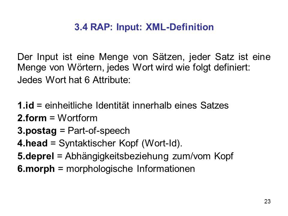 3.4 RAP: Input: XML-Definition