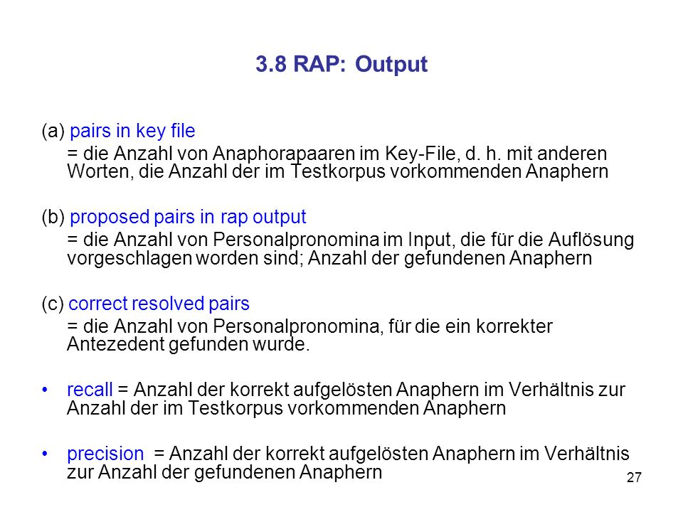 3.8 RAP: Output (a) pairs in key file