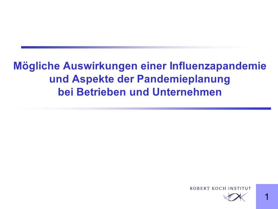 Mögliche Auswirkungen einer Influenzapandemie und Aspekte der Pandemieplanung bei Betrieben und Unternehmen