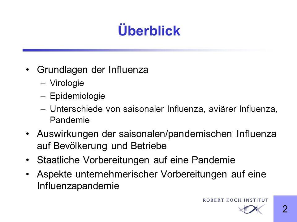 Überblick Grundlagen der Influenza