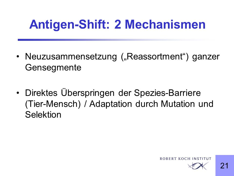 Antigen-Shift: 2 Mechanismen