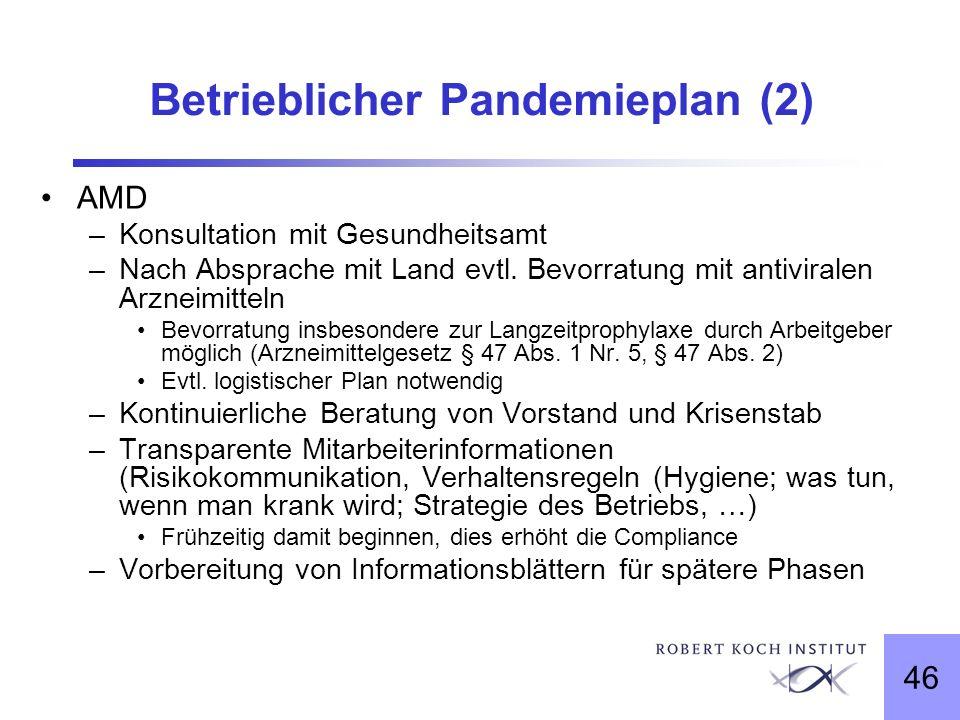 Betrieblicher Pandemieplan (2)