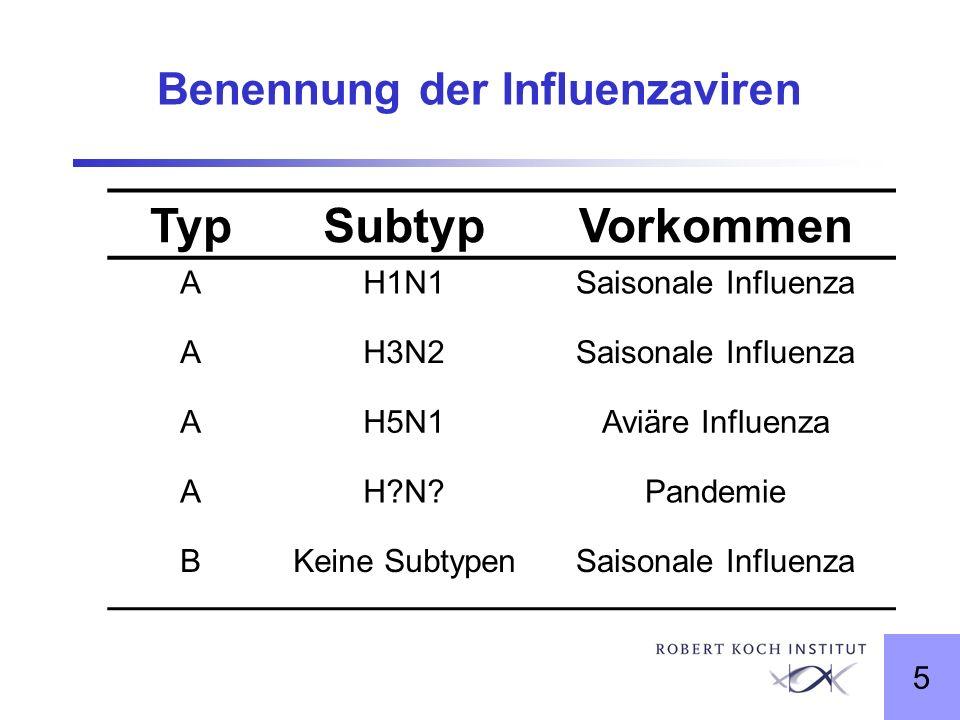 Benennung der Influenzaviren