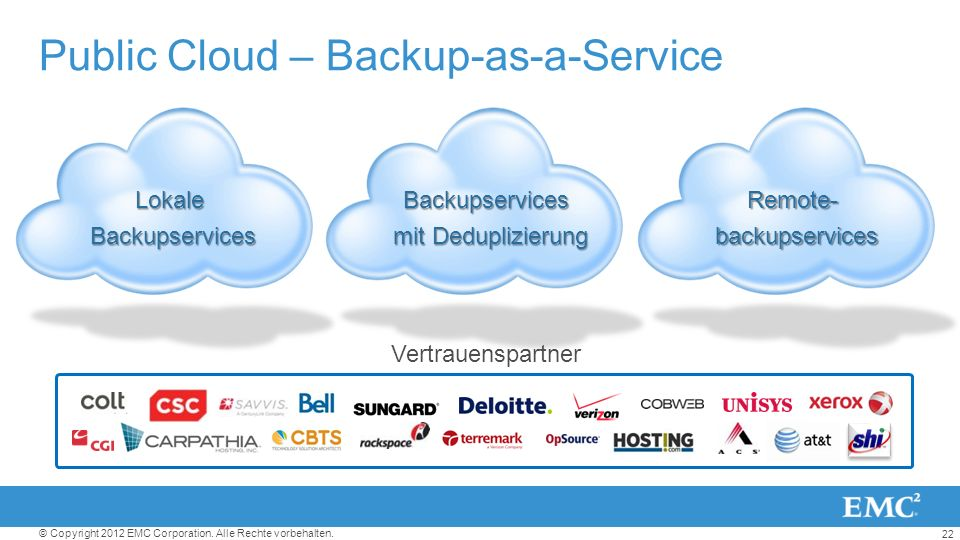 Public Cloud – Backup-as-a-Service