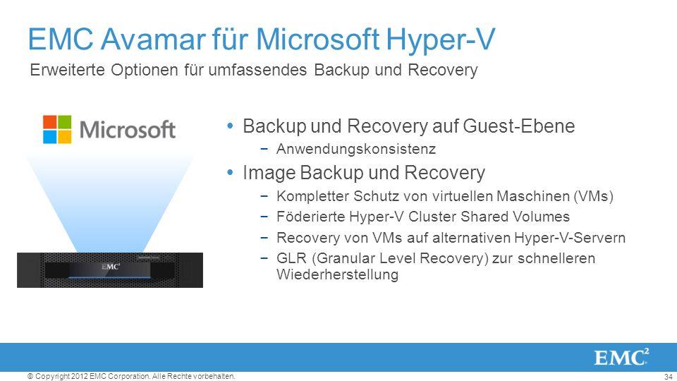 EMC Avamar für Microsoft Hyper-V
