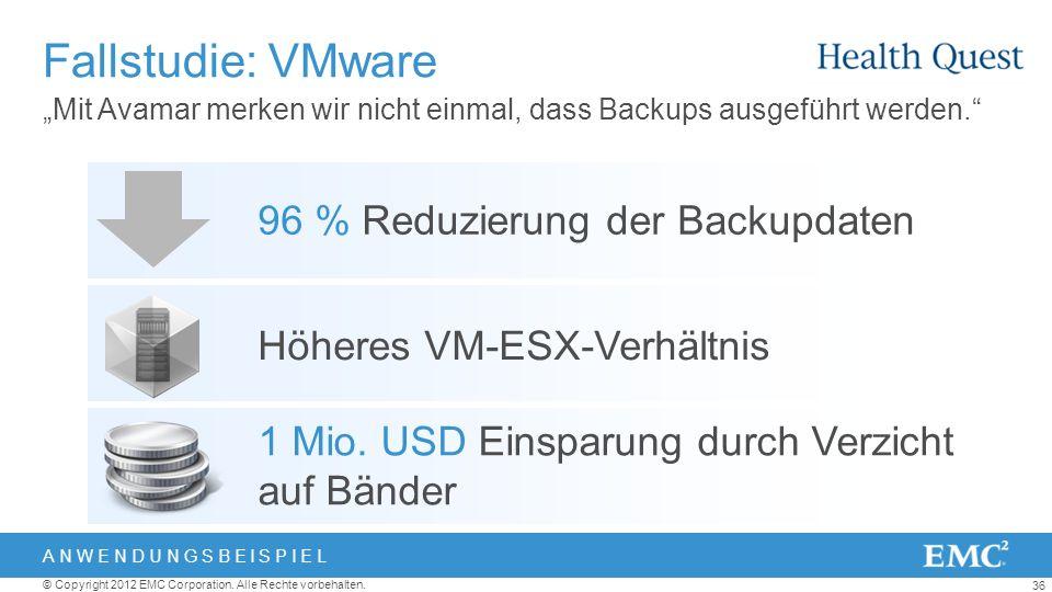 Fallstudie: VMware 96 % Reduzierung der Backupdaten
