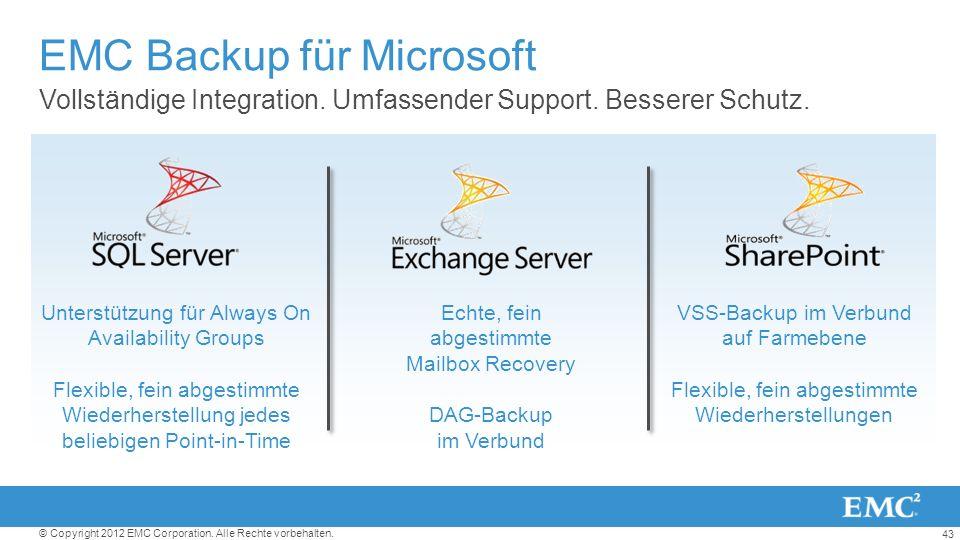 EMC Backup für Microsoft