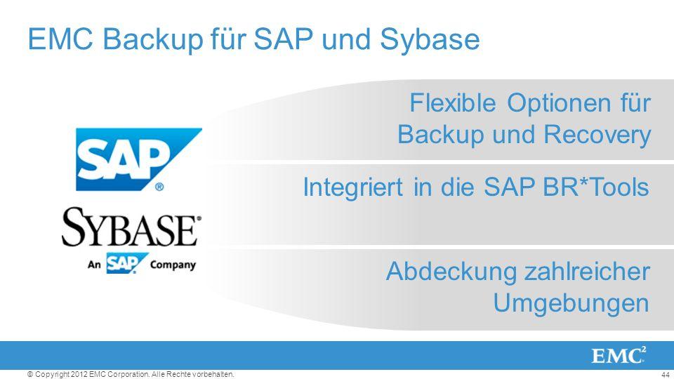 EMC Backup für SAP und Sybase