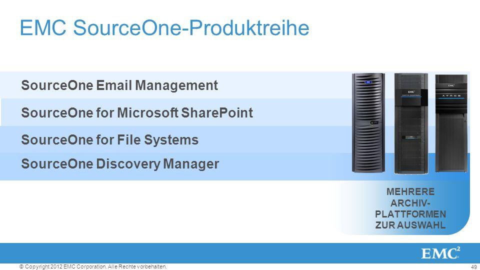 EMC SourceOne-Produktreihe