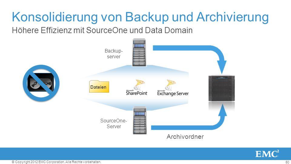 Konsolidierung von Backup und Archivierung