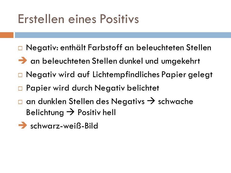 Erstellen eines Positivs