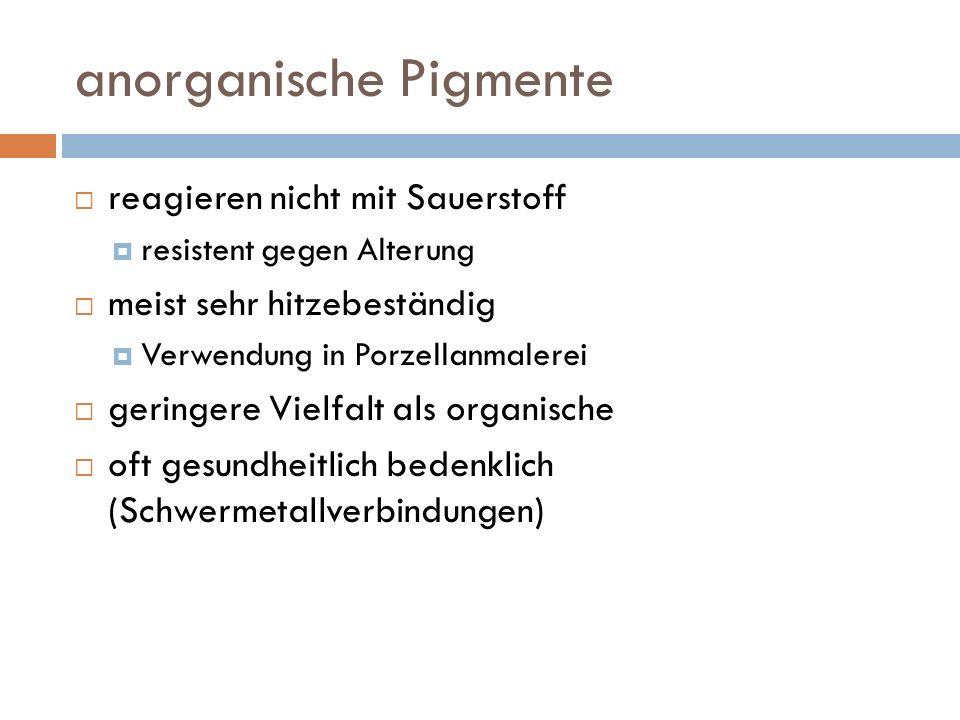anorganische Pigmente