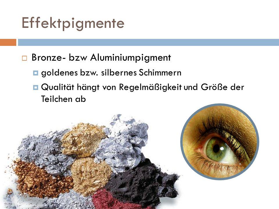 Effektpigmente Bronze- bzw Aluminiumpigment