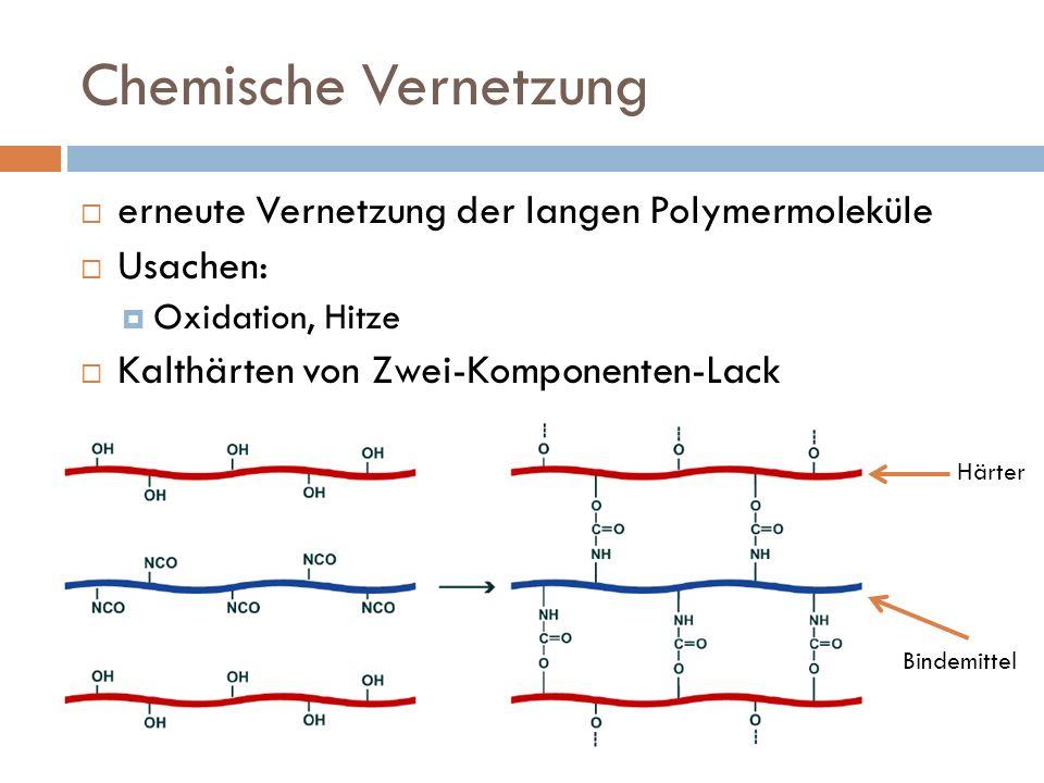 Chemische Vernetzung erneute Vernetzung der langen Polymermoleküle