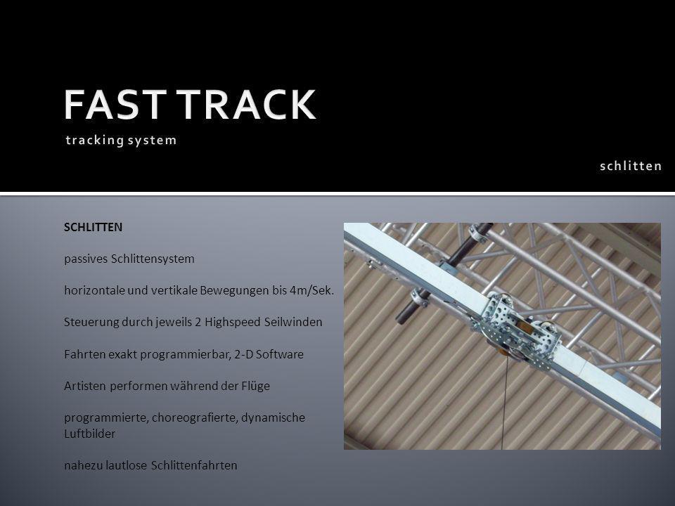FAST TRACK tracking system schlitten SCHLITTEN