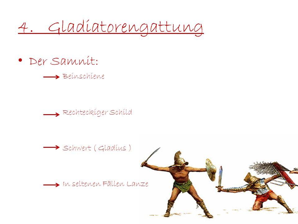4. Gladiatorengattung Der Samnit: Beinschiene Rechteckiger Schild