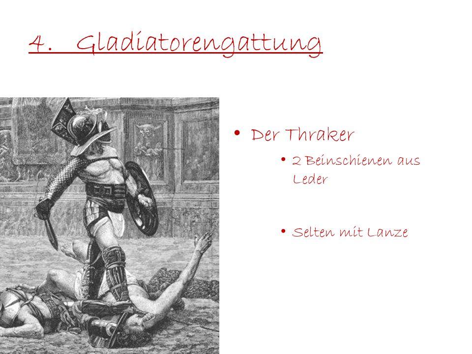 4. Gladiatorengattung Der Thraker 2 Beinschienen aus Leder
