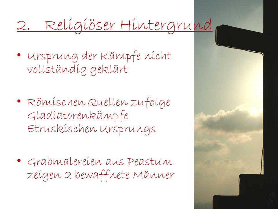 2. Religiöser Hintergrund