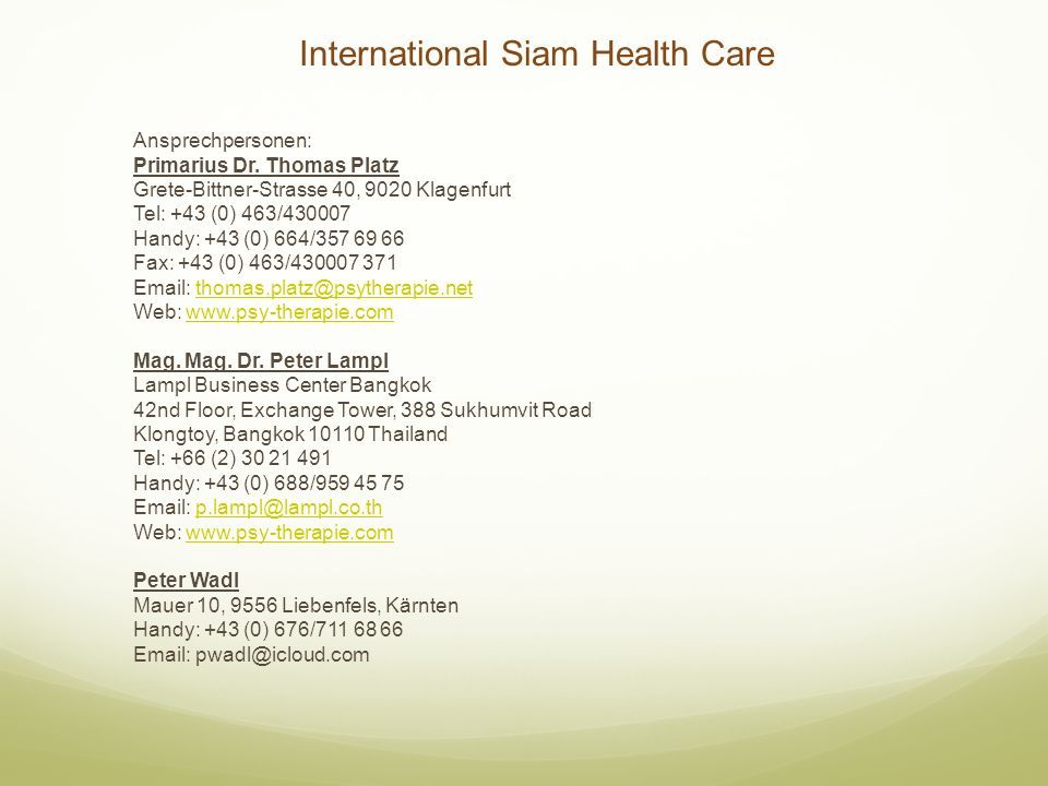 International Siam Health Care