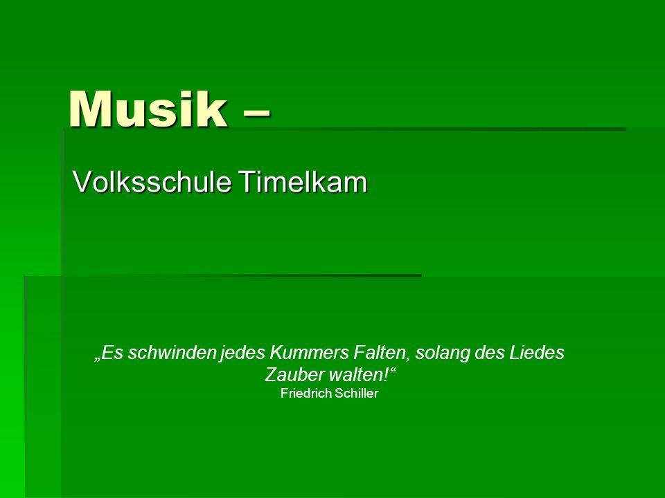 Musik – Volksschule Timelkam
