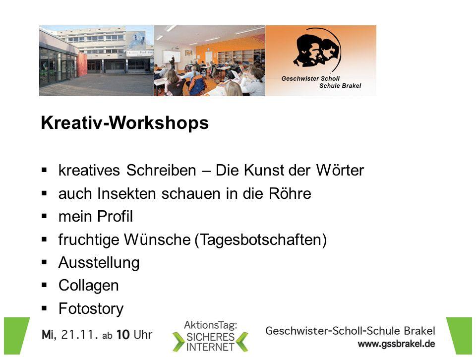 Kreativ-Workshops kreatives Schreiben – Die Kunst der Wörter