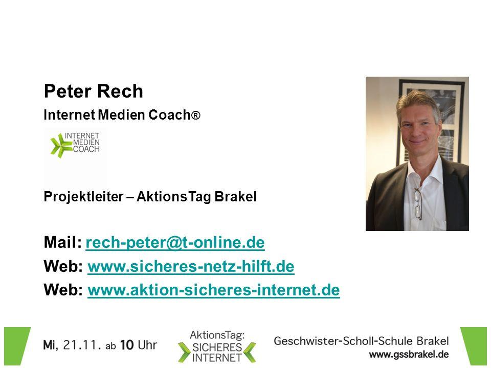 Peter Rech Mail: rech-peter@t-online.de