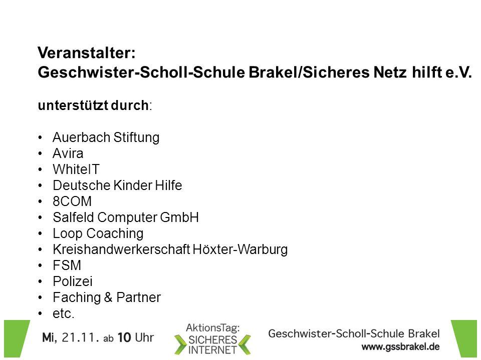 Geschwister-Scholl-Schule Brakel/Sicheres Netz hilft e.V.