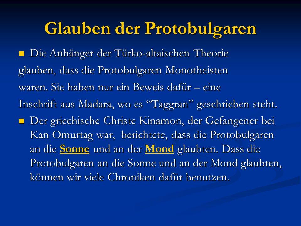 Glauben der Protobulgaren