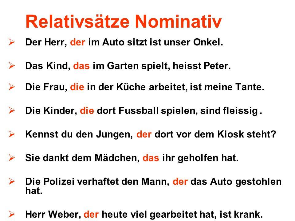 Relativsätze Nominativ