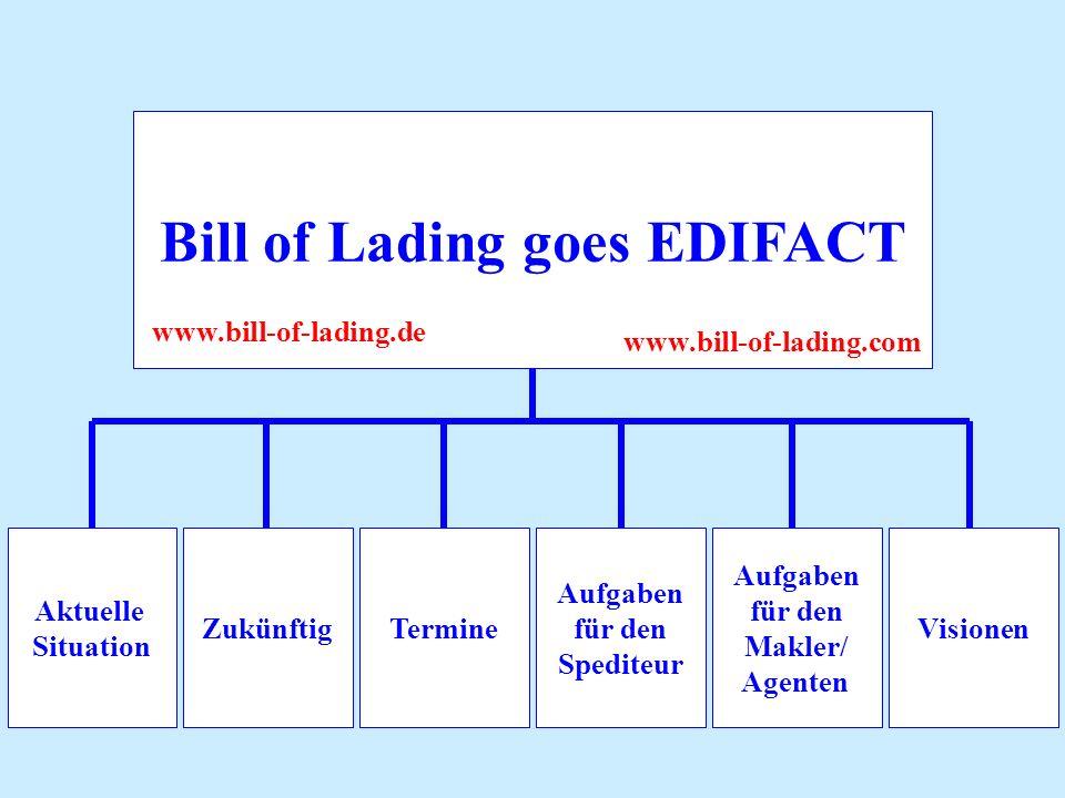 Bill of Lading goes EDIFACT