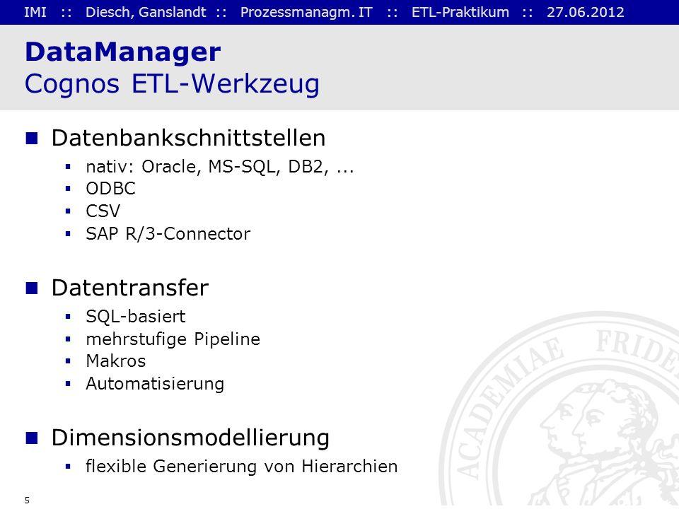 DataManager Cognos ETL-Werkzeug