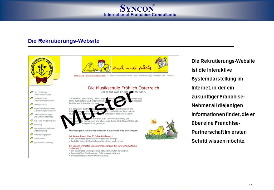 Die Rekrutierungs-Website