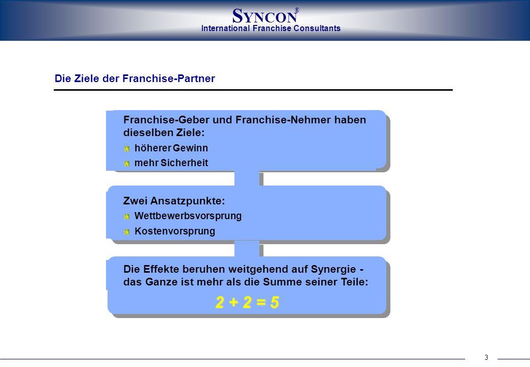 2 + 2 = 5 Die Ziele der Franchise-Partner