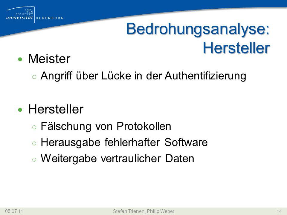 Bedrohungsanalyse: Hersteller